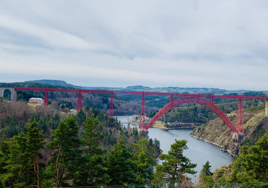 The Garabit Viaduct viewed from the motorway aire