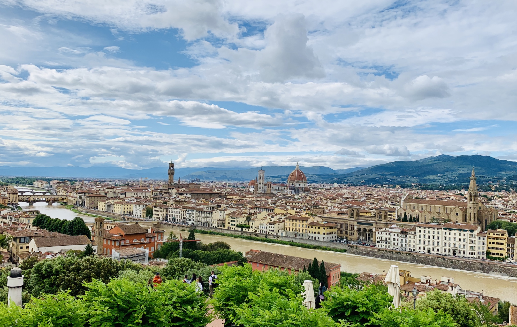 View over Florence Piazzale Michelangelo Florence