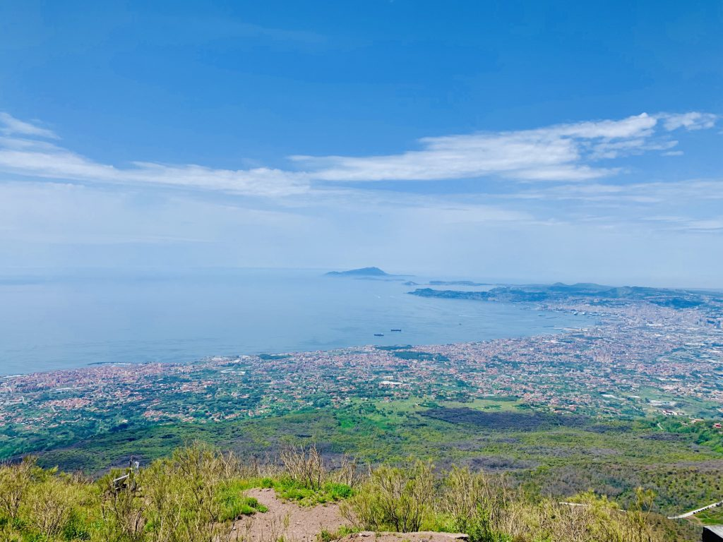 view from the top of Mount Vesuvius