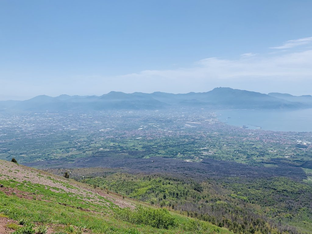 View of Pompeii from Mount Vesuvius