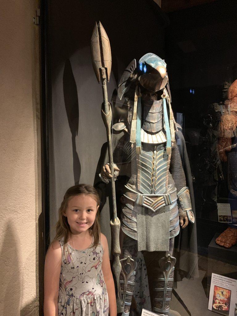 Olivia with horus stargate sg1 costume