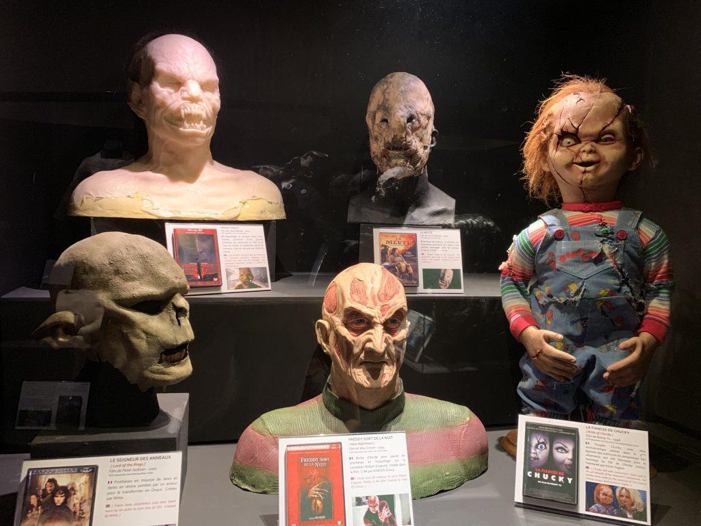 Freddie krugher mask, Chucky doll