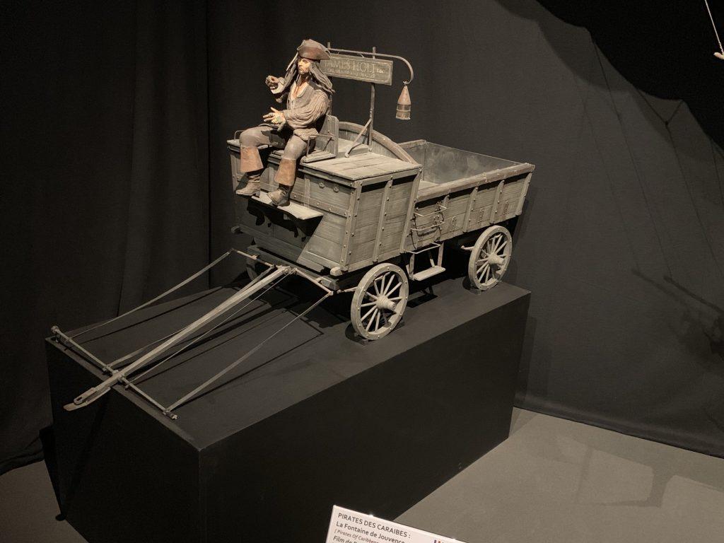 Captain Jack Sparrow on a cart