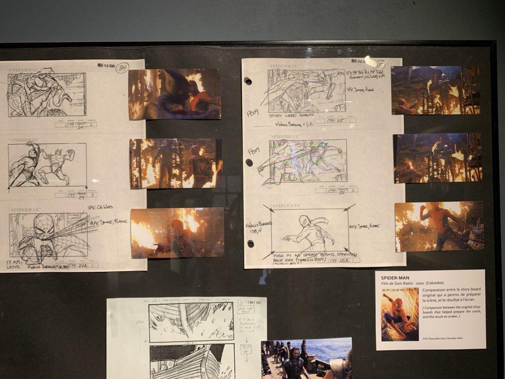 Spiderman story board