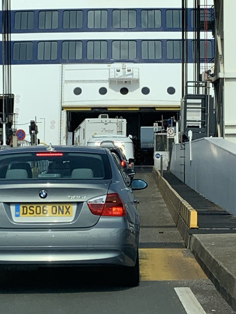 RV boarding the Ferry