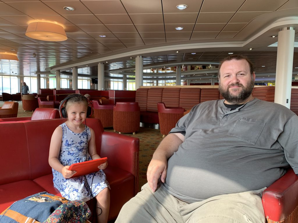 George and Olivia on the Ferry