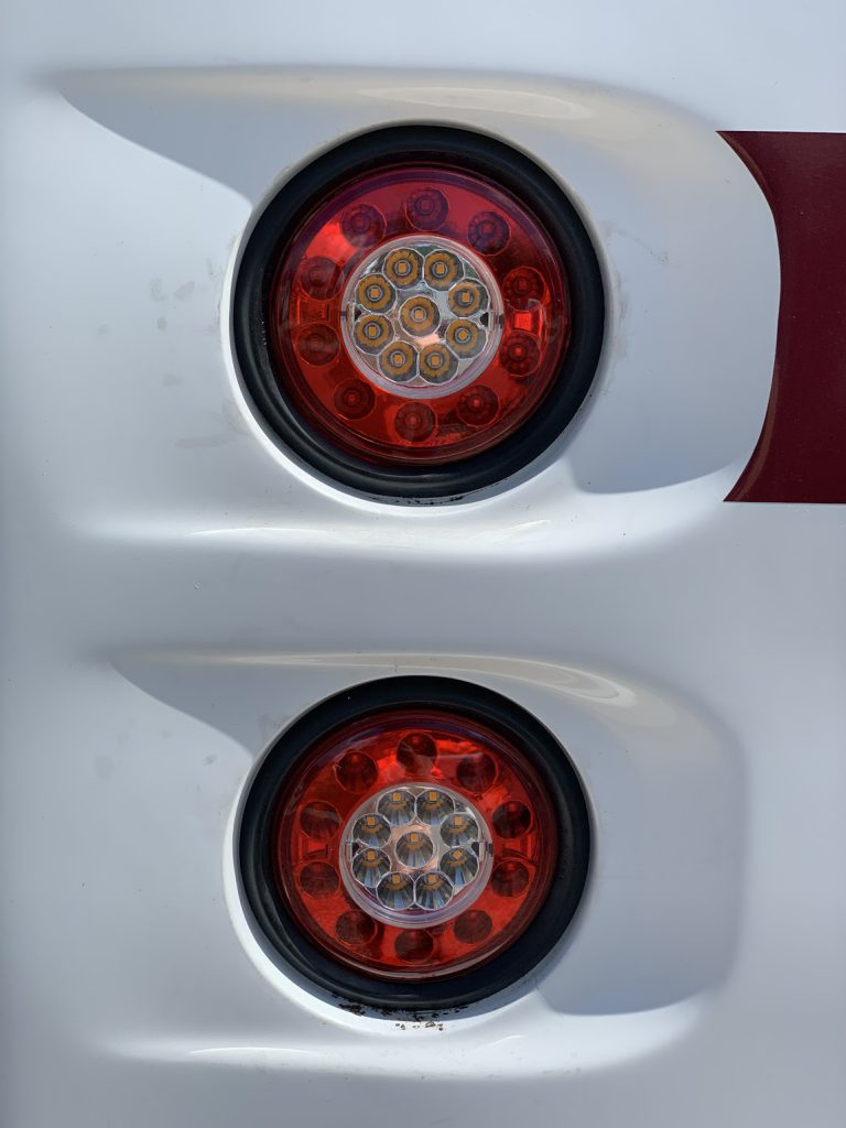 New rear lights closeup picture