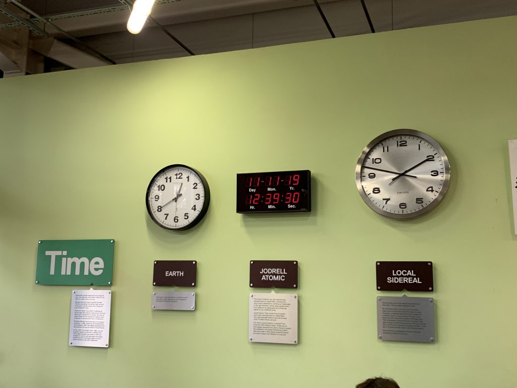 Clocks showing time on different planets